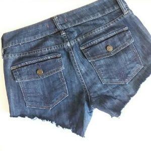 LIMITED EDITION GAP frayed cut off shorts